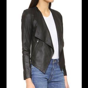 NWT BB Dakota Siena Soft Leather Jacket Black